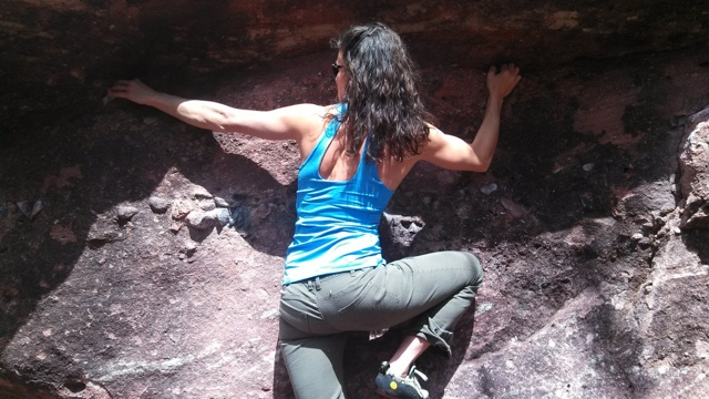 Becca bouldering sized